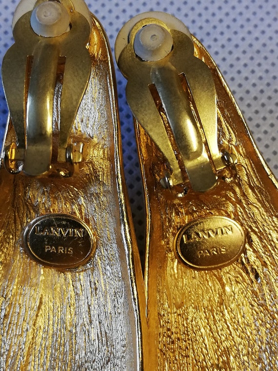 Lanvin Creole clips earrings. 'Wake' collection a… - image 7