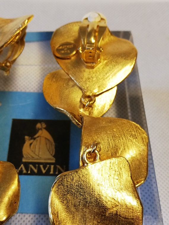 Earrings clips hanging Lanvin. Collection 'pet pe… - image 5