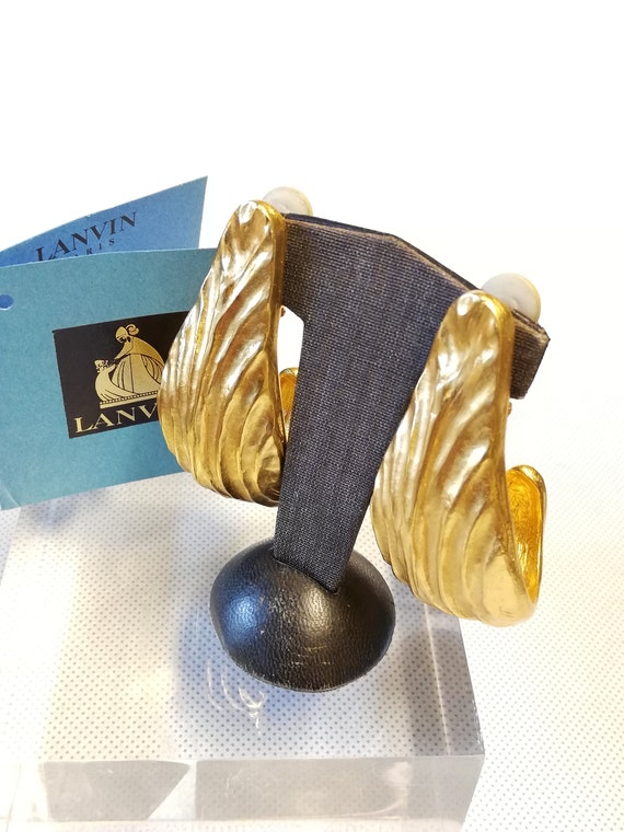 Lanvin Creole clips earrings. 'Wake' collection a… - image 10