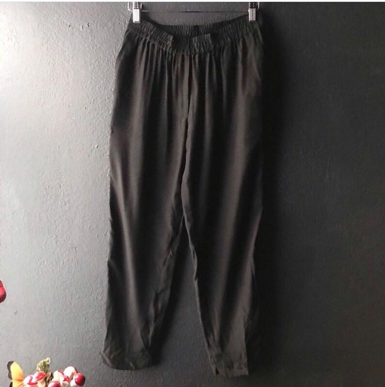 Black silk lounge pants Size XSS