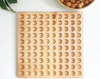 The Original Hundred board - hundred frame - 100 board - counting board - Montessori toy - math manipulative - Montessori materials