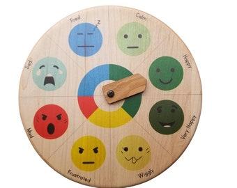 Emotion wheel with self regulation zones - emotion zones - social emotional learning SEL