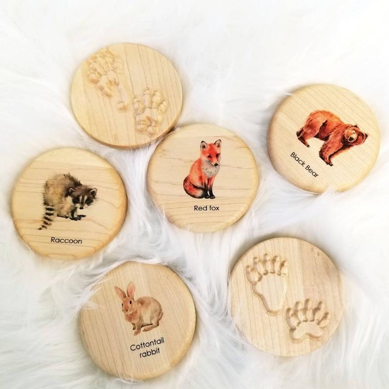 Animal tracks play dough stampers  animal track stamps  image 1