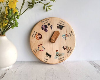 Emotion coping techniques wheel - gift for therapist - emotional regulation tool - Christmas gift