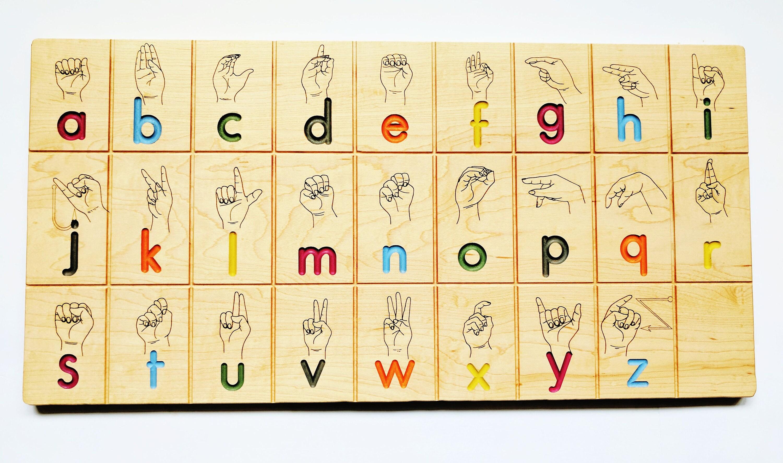 American sign language alphabet board ASL