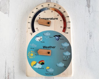 Weather calendar for kids - temperature and weather calendar