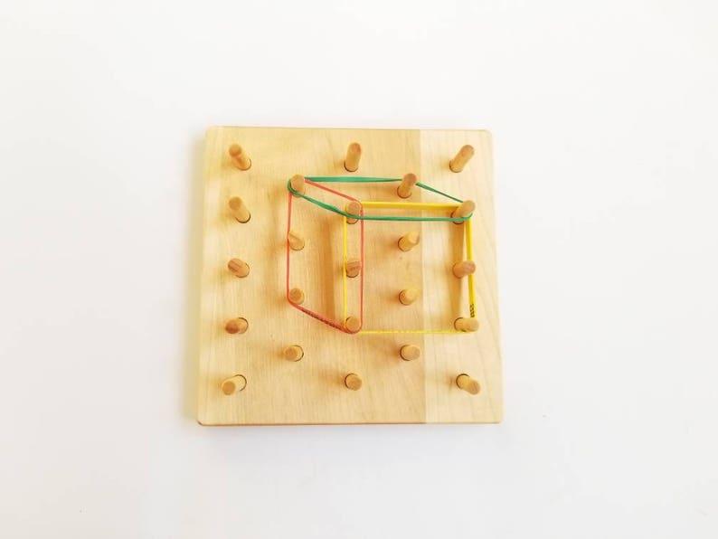 Isometric Geoboard - wooden Geoboard - wooden pegboard - 3d shapes board -  Geometry board - stem toy - gift for kids - math toy - montessori