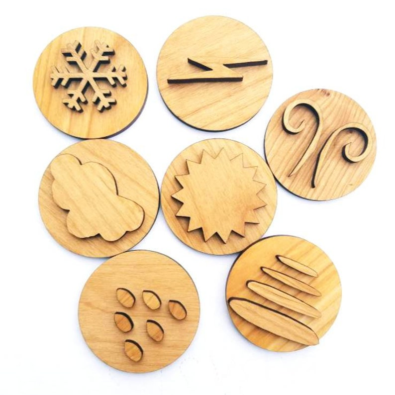 play dough stampers  Weather play dough stamps  play stamps image 0