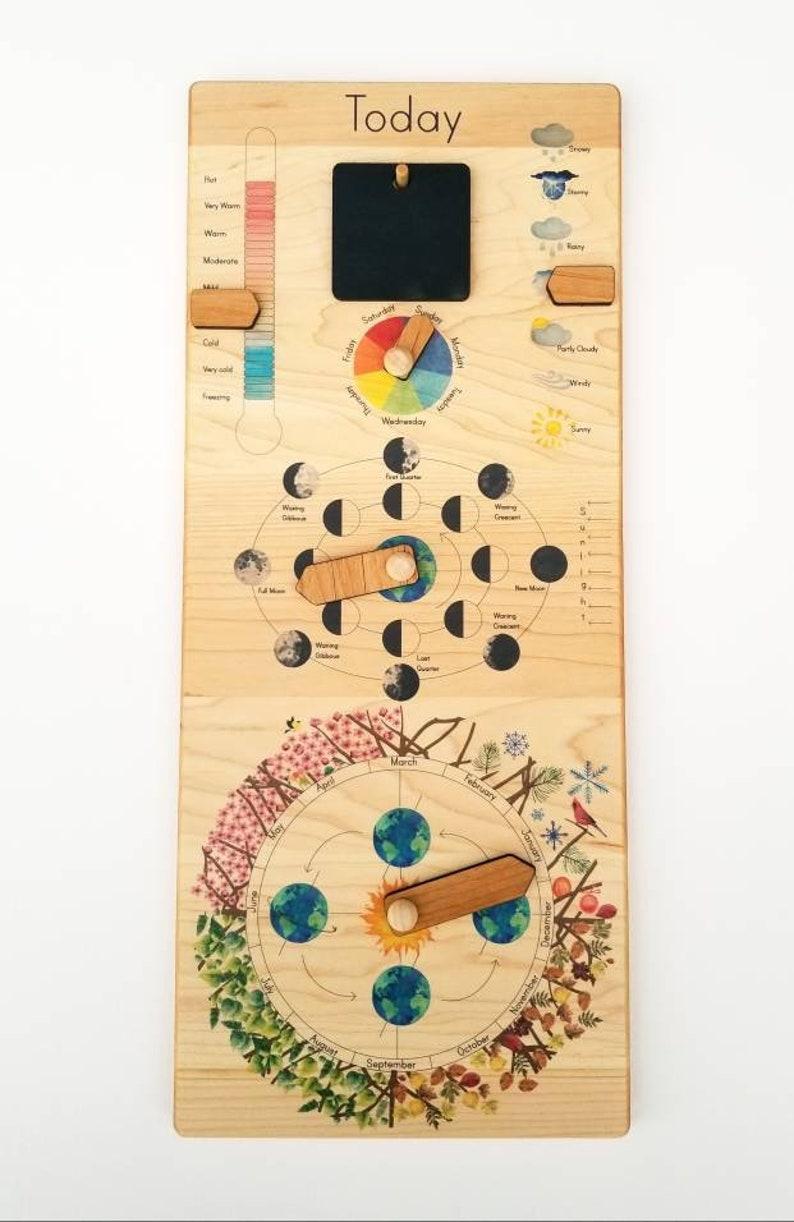 Wooden Perpetual Calendar Perpetual Calendar Wood Calendar Etsy