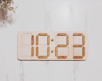 Montessori Digital clock puzzle  - Telling time