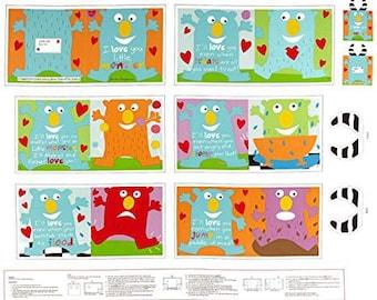 Huggable & Lovable 6 Little Monster Fabric Panel