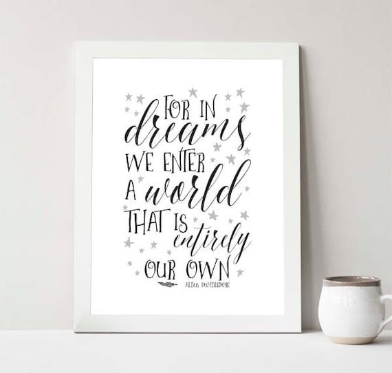 Instant Download For In Dreams We Enter A World That Is Etsy