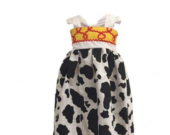 Jessie Cowgirl Inspired Girls, Toddler, Baby, and Infant Play Dress