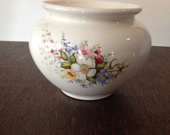 Floral Pottery Bowl