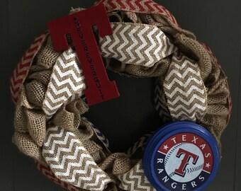 Texas Rangers Wreath