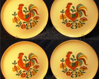 Set of 2 EXCELLENT Taylor Smith Taylor Brocatelle Bread Plates 6 12 Ever Yours