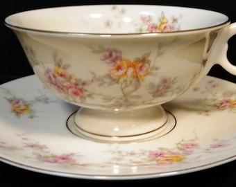 Theodore Haviland NY Gloria Tea Cup Saucer Set EXCELLENT!