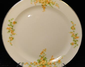 "Taylor Smith Taylor Acacia Orange Floral Salad Plate 8 3/8"" EXCELLENT!"
