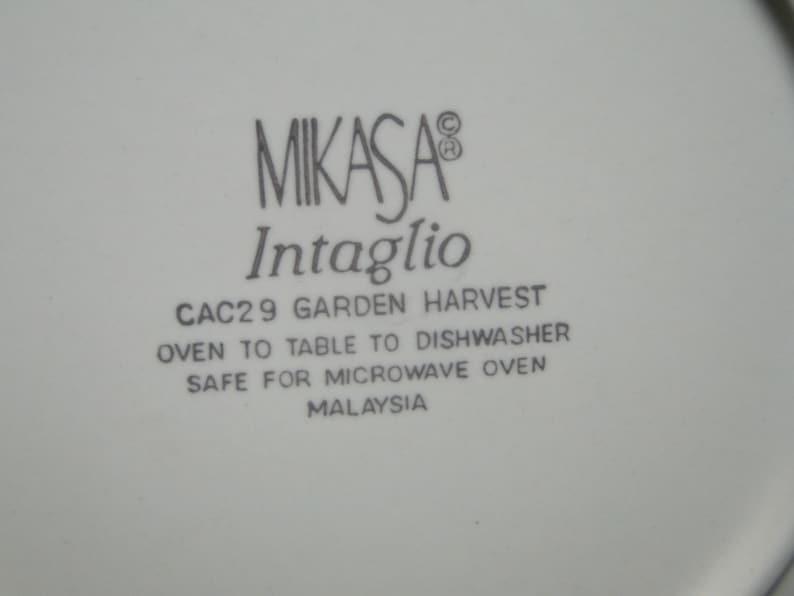 Mikasa Garden Harvest Salad Plate CAC29 Intaglio 8 38 EXCELLENT