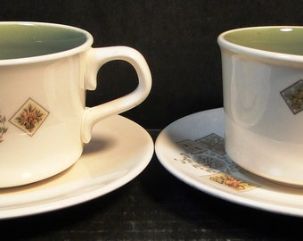 TWO Taylor Smith Taylor Brocatelle Tea Cup Saucer Sets Ever Yours 2 EXCELLENT!