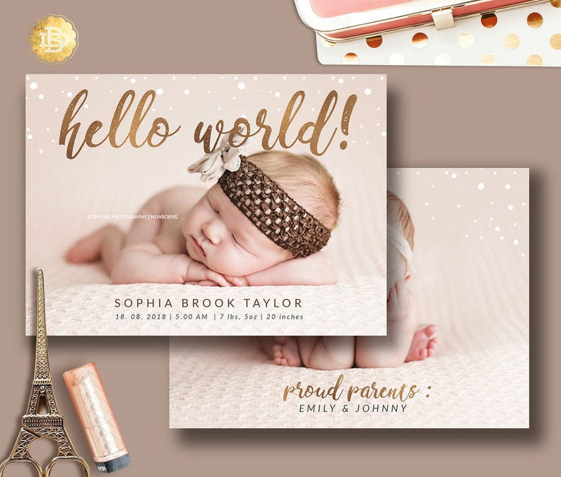72 Baby Boy Birth Announcement Card Template Printable Instant Download Welcome Baby Boy Editable Template New Baby Mailer