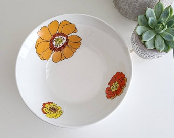 Three Vintage Johnson Brothers Sunflowers Ironstone SaladLuncheon Plates Made in England in the 1960/'s-8