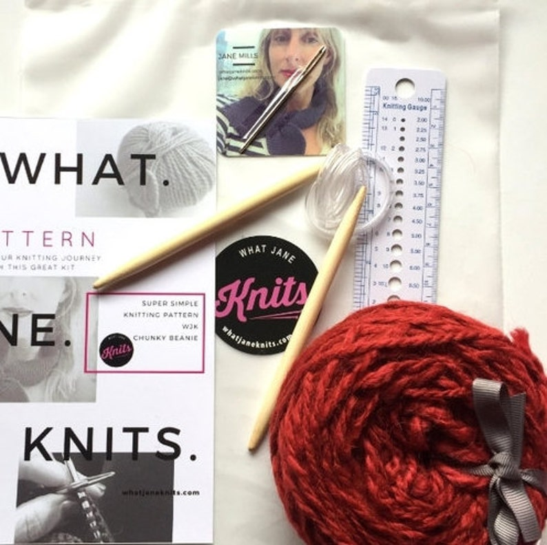 099a7c54490 Learn to Knit Chunky Beanie KIT