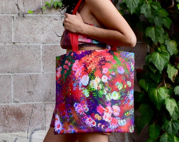'Floral Swirl' Tote Bag