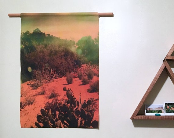 'Cactus' Canvas Wall Hanging