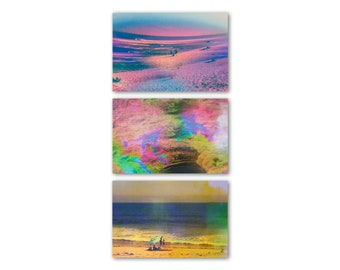 Malibu Postcard Set, Postcards, California Postcards, Malibu Postcards, Ocean Art, Rainbow Art, Malibu, Psychedelic Art, Olivia D'Orazi