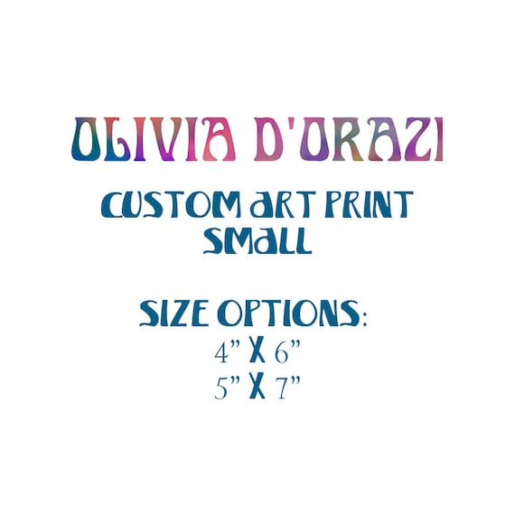 Small Custom Order Art Print