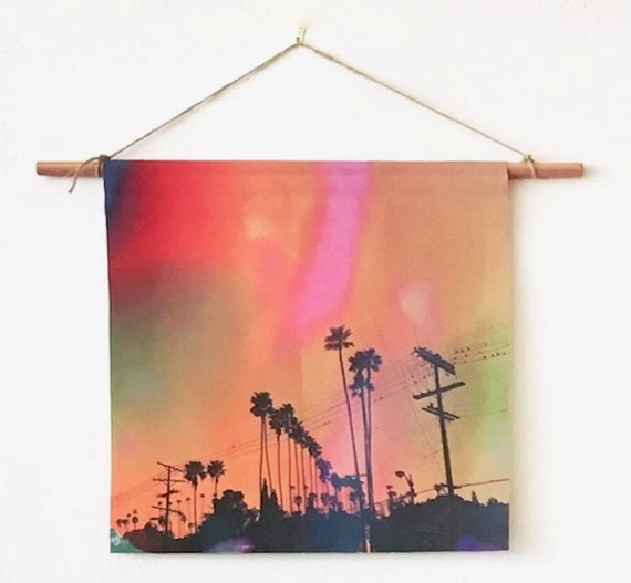 'Palm Trees' Canvas Wall Hanging
