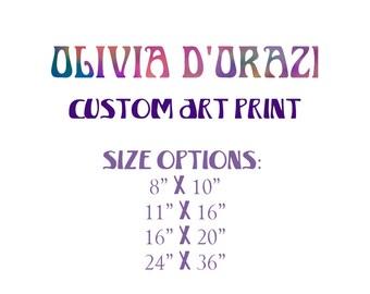 Custom Order Art Print, Special Order Print, Psychedelic Art, California Art, Wall Art, Abstract Art, Mixed Media Print, Olivia D'Orazi