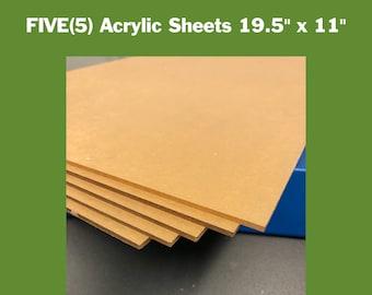 "Dark Pastel Green Translucent//Solid Acrylic Plexiglass sheet 1//8/"" x 24/"" x 24/"""