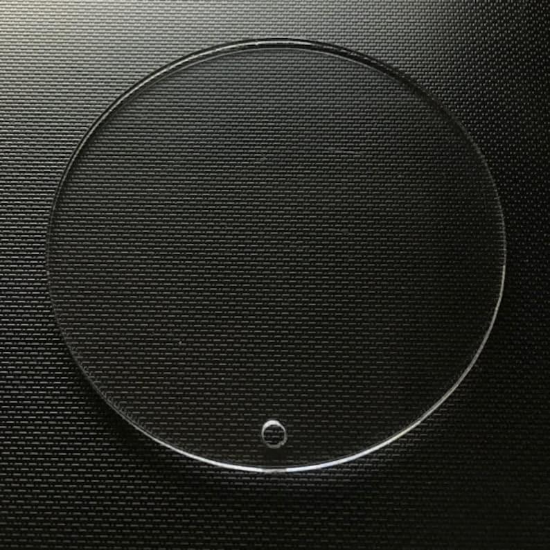 25 Clear CIRCLE Disc Acrylic keychain blanks Acrylic Blanks image 1