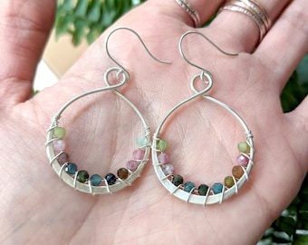 Infinity Gemstone Earrings - sterling silver, gold fill, rose gold fill - various gemstone options