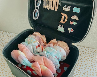 T&B JetSetter Mouse Ears Train Case Bag Storage Display Pin Board Luggage holder (Pre-Order: shipping end of Nov/early Dec)