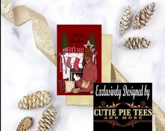 Amerikanische Weihnachtskarten.African American Christmas Cards Etsy
