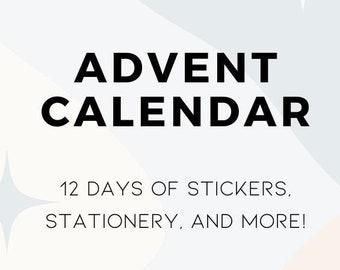Planner / Stationery Advent Calendar 2021 Presale (value 200 dollars)