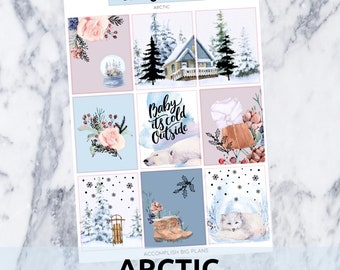 Arctic // Holographic Foil Full Weekly Sticker Kit // for Standard Vertical Planner Stickers