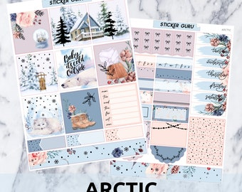 Arctic // Holographic Foil Essentials Weekly Sticker Kit