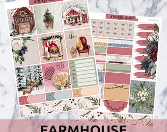Farmhouse // Gold Foil Essentials Weekly Sticker Kit