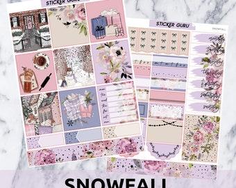 Snowfall // Silver Foil Essentials Weekly Sticker Kit