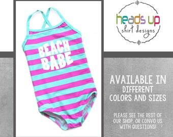 784e5ffae8 Beach Babe Swimsuit Toddler Girl Trendy - Kids Swimwear Girls Beach Babe -  Popular Beach Swim Suit Little Girl - Hipster Summer Pool Party