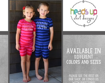 family reunion toddler Cousin Crew Pajama holiday gift cousins family pajamas youth vacation baby child