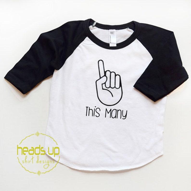 d423f464 This Many 1 Raglan Shirt Baby Boy/Girl I Am This Many | Etsy