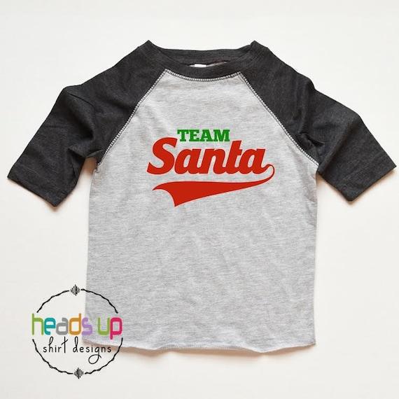 cb3b5faf32 Christmas Shirt Kids Team Santa Raglan tshirt Toddler