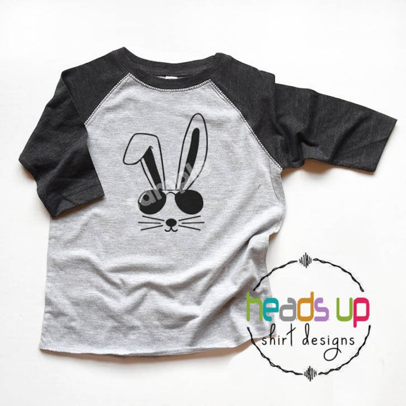c54b8f0722431 Easter Shirt Cool Easter Bunny Toddler Boy or Girl - Baby Bodysuit Easter  Bunny - Hipster Kids Easter Bunny Raglan Tee - Trendy Egg Hunt Tee