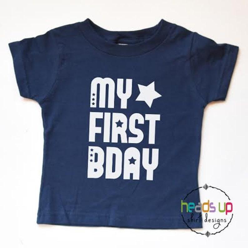 First Birthday Shirt Toddler Boy Girl Baby 1st Bday