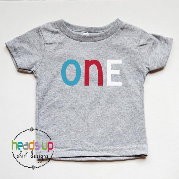 1st Birthday Shirt Boy Girl One Tshirt First